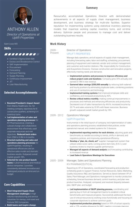 Logistics Specialist Resume Sample by Director Of Operations Resume Samples Visualcv Resume