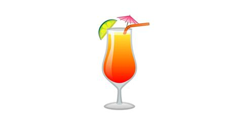 tropical drink emoji cocktail tropical emoji