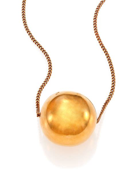 Stella Necklace stella mccartney pendant necklace in gold lyst