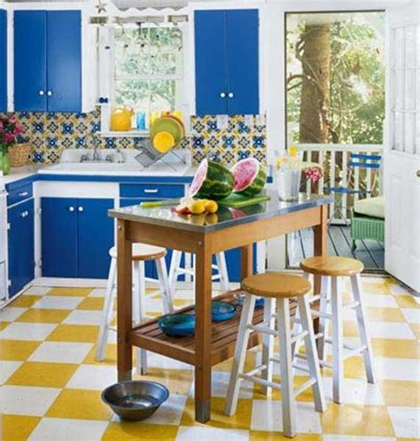 blue and yellow kitchen decor 16 ideas bringing bright room colors into modern interior