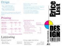 List Of Designers Graphic Design Price List Magazine Joy Studio Design