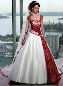 Red and white wedding gowns amp dresses modern wedding