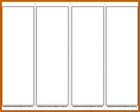10 11 Bookmark Template Word Resumesheets Microsoft Word Bookmark Template