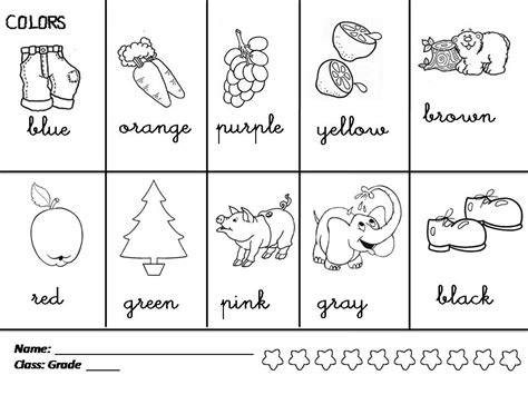 coloring pages for esl students enjoy teaching english colors shapes