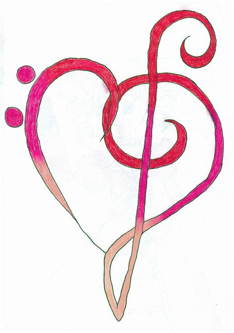 tattooed heart free music download clef heart clipart best