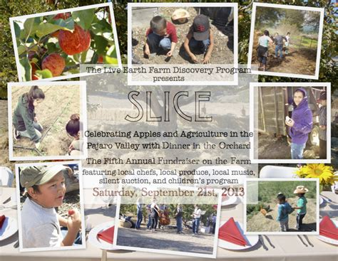 Live Earth Concerts Save Our Selves Says by Slice Dinner In The Orchard Live Earth Farm
