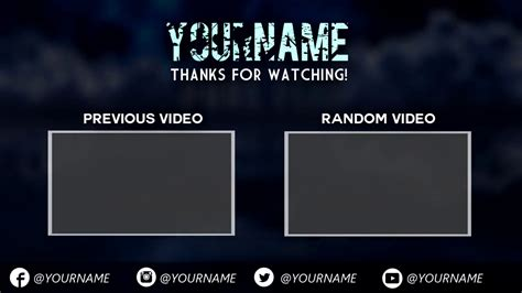 end card templates sony vegas sony vegas outro template images template design ideas