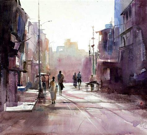 Painting And Cityscapes milind mulick watercolor paintings