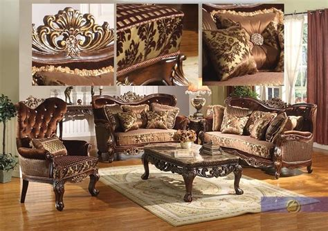 Antique Living Room Furniture Sets Formal Traditional Sofa Set 2 Pc Antique Sofa Loveseat Living Room Furniture Ebay