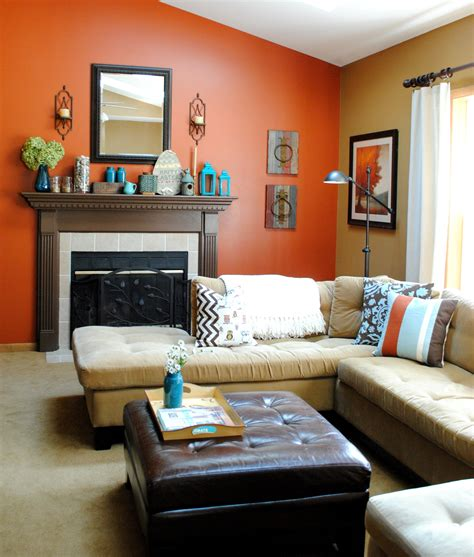 orange colour combination living room brown living room walls mixed with black and color schemes mafindhomes