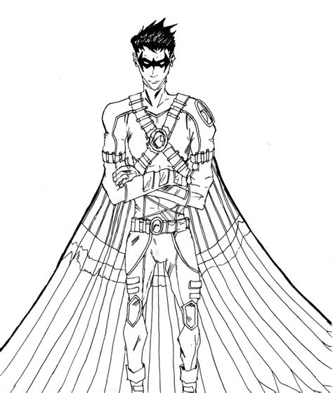 red robin coloring page red robin tim drake by choire on deviantart