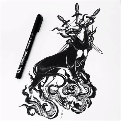 hellhound tattoo 53 best hellhound drawings images on