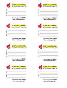 secret santa template wishlist 4 best images of secret santa list printable secret