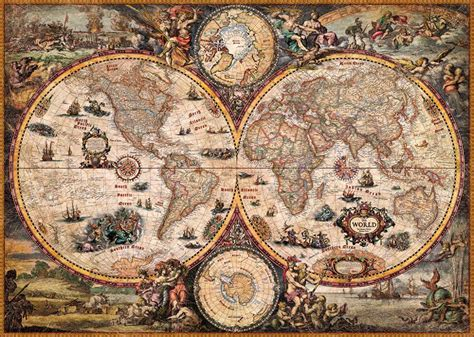 cornici per puzzle ravensburger heye puzzle vintage world karte 2000 teile