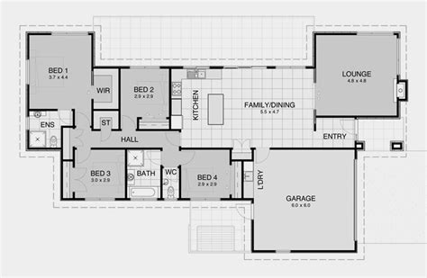 impressive simple open house plans 6 simple 3 bedroom house floor plans smalltowndjs com