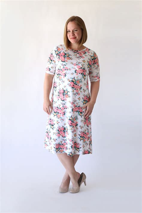 sewing pattern simple dress the easy tee swing dress simple sewing tutorial it s