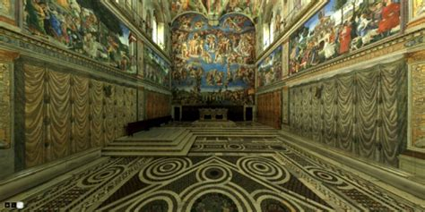 3d view of the sistine chapel a 360 degree panoramic