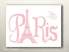 Paris with love paris typography wall decor vintage pink post card
