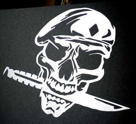 high detail airbrush stencil army skull four free uk