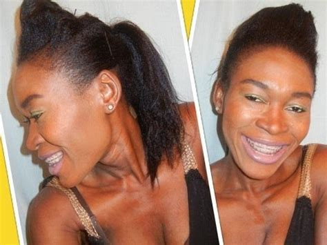 hairstyles for poofy hair youtube easy bumped ponytail pompadour ponytail hairstyle poofy