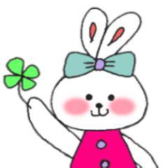 Chn Tiger Pink Set cheek pink rabbit line creators stickers