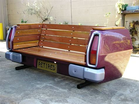 car bench repurposed cars outdoors outdoortheme com