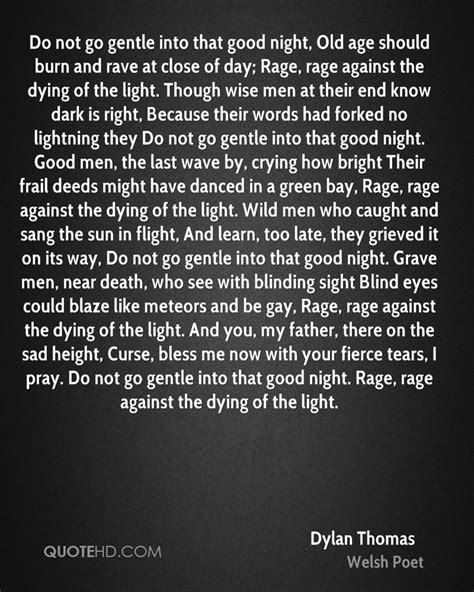 rage against the dying of the light meaning age quotes quotehd