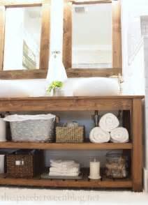 Bathroom Countertop Storage Drawers by Diy Wood Vanity In The Master Bathroom