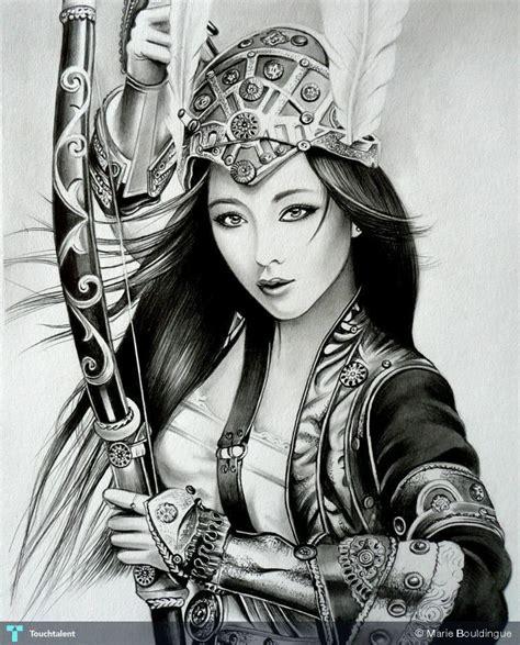 geisha kriegerin tattoo fan 4 creative art in sketching by marie bouldingue at