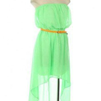 high low chiffon dress with from kiwilook my closet