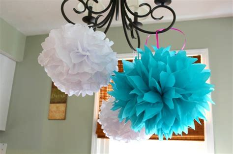 Paper Pom Poms How To Make - how to make tissue paper pom poms easily