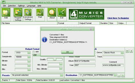 audio format converter linux 4musics wav to ogg converter download