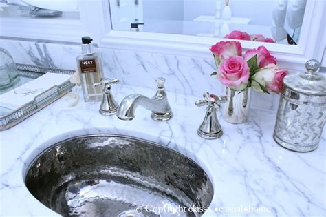 hammered silver bathroom sink hammered metal sink transitional bathroom tamara