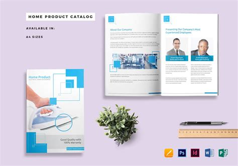 Home Product Catalog Template In Psd Word Publisher Indesign Apple Pages Microsoft Word Catalog Template