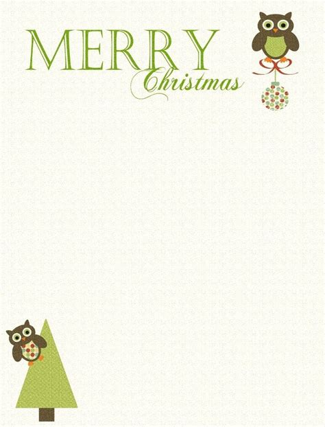 printable owl christmas cards 81 best writing paper images on pinterest free printable
