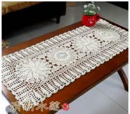 Coffee Table Tablecloth 2014 New Chrismas Gift Handmade Crochet Flowers Tablecloth Cotton Coffee Table Runner Doilies