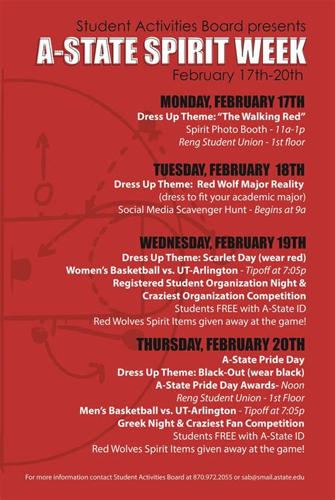 Celebrate Spiritday by Celebrate Pack Pride With Student Activities Board During
