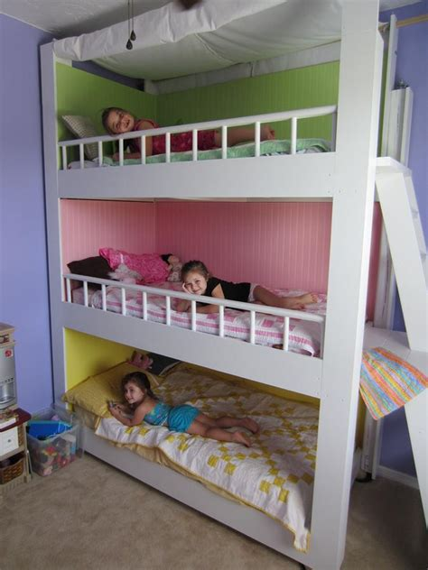 3 way bunk bed custom made triple bunk beds