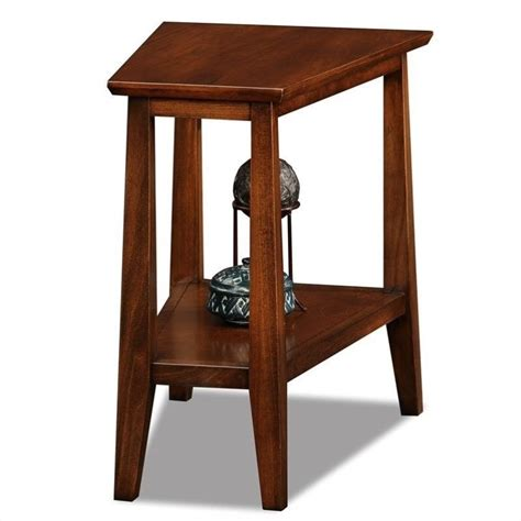 Solid Wood End Table by Leick Delton Triangle Solid Wood Finish End Table Ebay