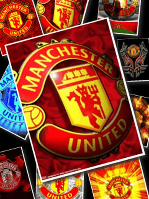 wallpaper bergerak mu wallpaper animasi handphone logo manchester united