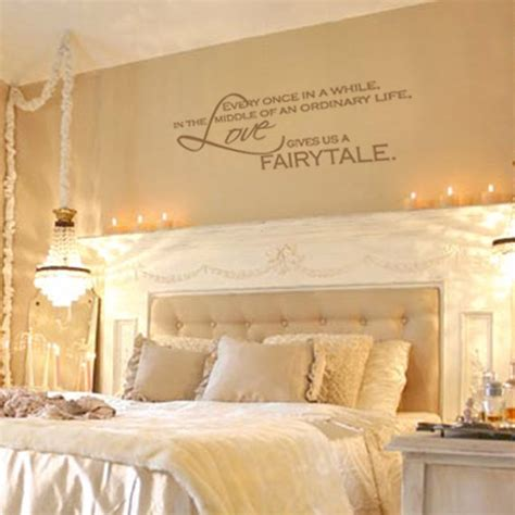 art for bedrooms items similar to love gives us a fairytale vinyl wall