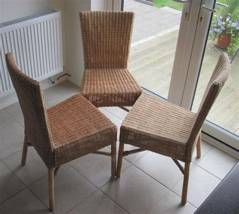 Wicker Dining Chairs Ikea by Ikea Rattan Bamboo Dining Chairs 3 In Uckfield Friday Ad