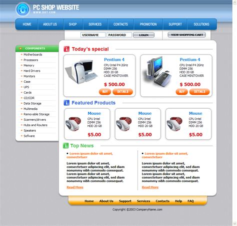 Templates Of Website In Html | free html website templates e commercewordpress