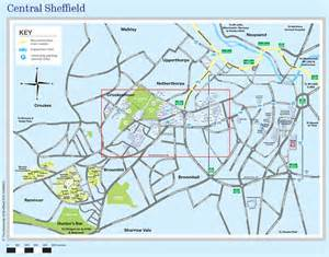 sheffield map central sheffield map maps and travel advice visitors