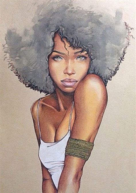 www tumblr afro amercian female pubes character drawing beautiful and portrait on pinterest