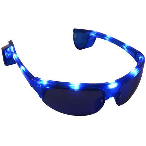 light up glasses bulk wholesale job lot 72 x fun light up blue led sunglasses