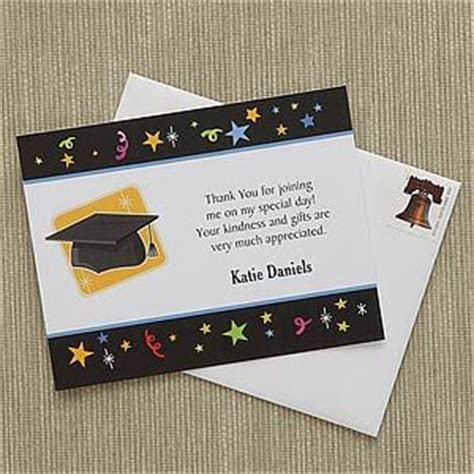 Thank You Note Template Graduation Money Let S Celebrate Custom Thank You Cards Personalized Graduation Gifts Memories And The O Jays