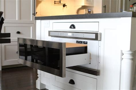 kitchen island with microwave drawer wolf microwave drawer contemporary kitchen portland