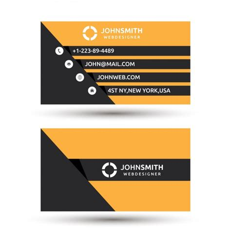 orange and black business card psd design techfameplus orange and black modern business card vector free download