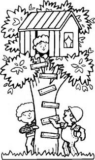 treehouse coloring pages tree house coloring page